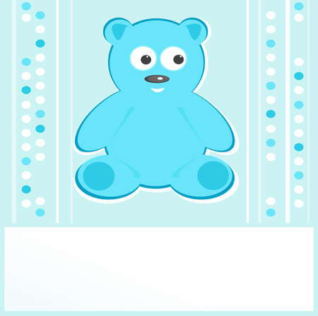 Teddy bear for baby boy - baby arrival announcement photo