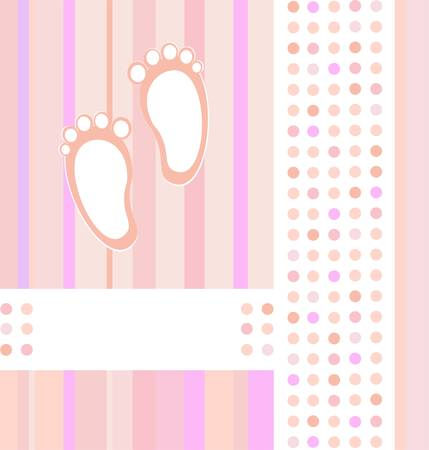 baby girl announcement card background Vector