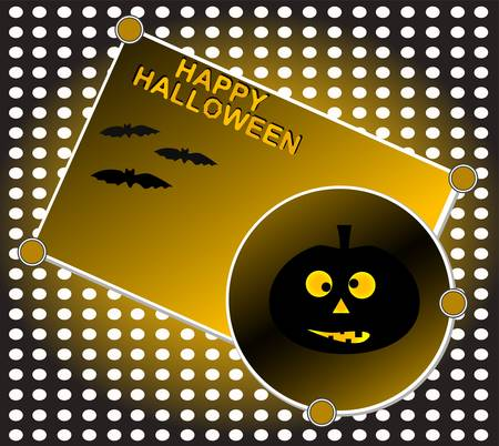 Grinning pumpkin at night. Halloween background  Vector