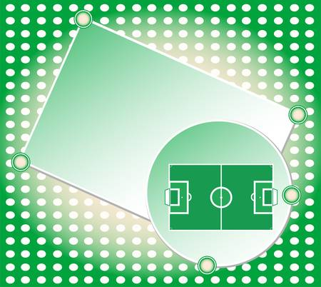 soccer football field greetings card  Vector