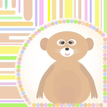 surprisingly: cute Baby lemur greetings card for scrapbook