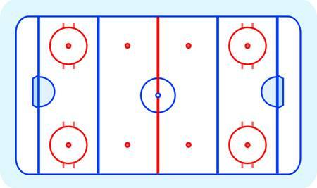 hockey sobre hielo: hielo, hockey sobre c�sped tarjeta de felicitaci�n azul