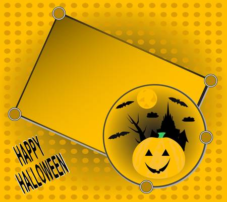 Halloween invitation for your party greetings card Stock Vector - 10856189