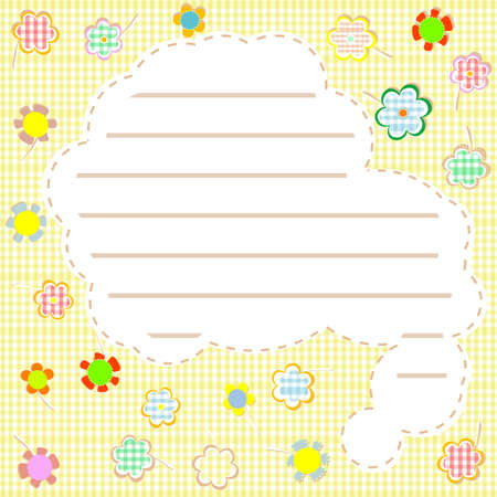 Gift. flowers and a note background card Stock Photo - 10917188