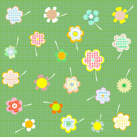 Hand drawn floral wallpaper with set of different flowers Stock Photo - 10958753