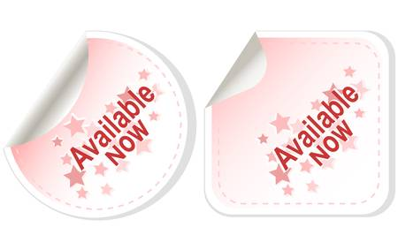 Stickers available now Button set card Vector