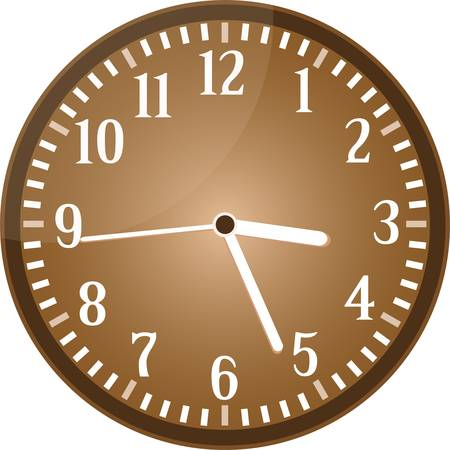 clock face: Vintage clock grunge isolated on background