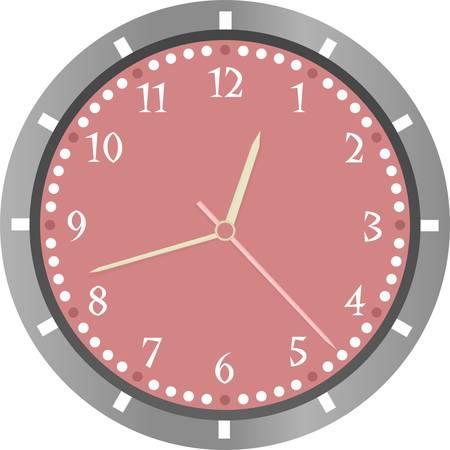 passing: reloj de pared aisladas sobre fondo blanco Vectores
