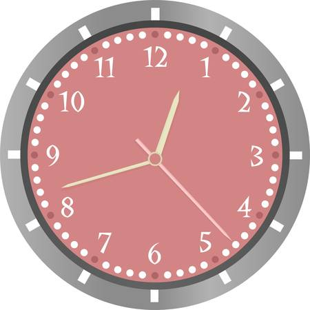 passing: wall clock isolated on white background