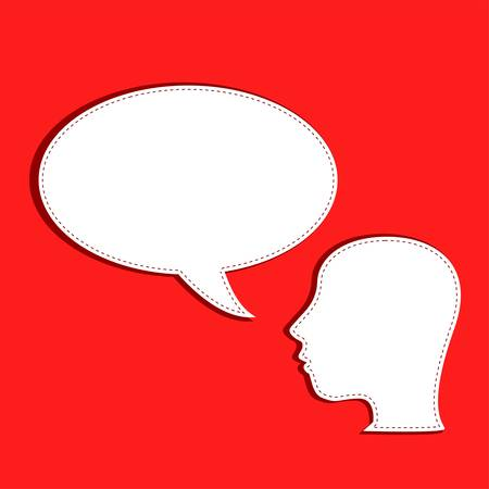 Human talks in a speech bubble Stock Vector - 11155028