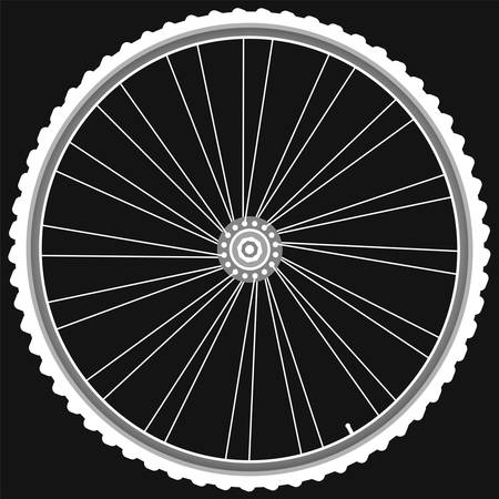 white Bike wheels isolated black background  Stock Vector - 11155032