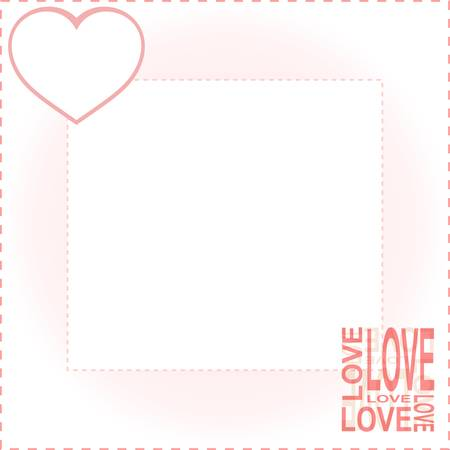 velvet ribbon: valentines background with red love heart