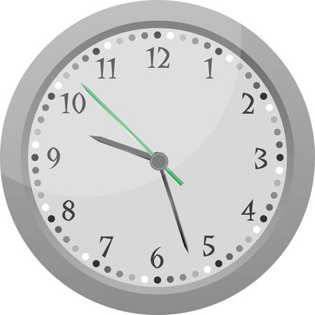 wall clock vector Vintage orange isolated on white Vector