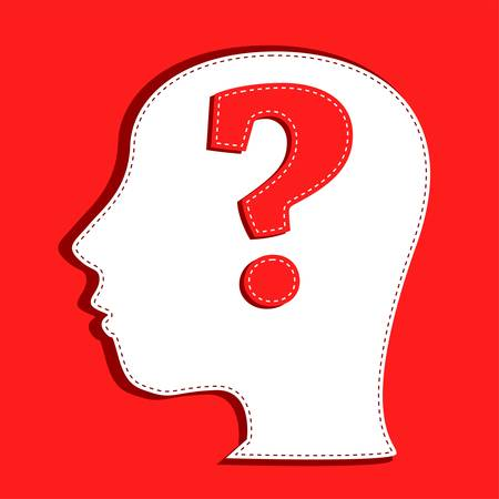 Human head with question mark symbol Stock Vector - 11535940