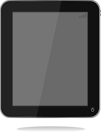 tablet pc with shadow. vector Vector