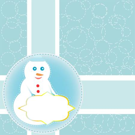Christmas card with snowman. Vector new year card Vector