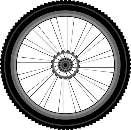 chrome wheels: bike wheel isolated on white