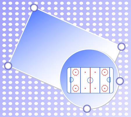 ice hockey field blue greetings card winter background vector Vector