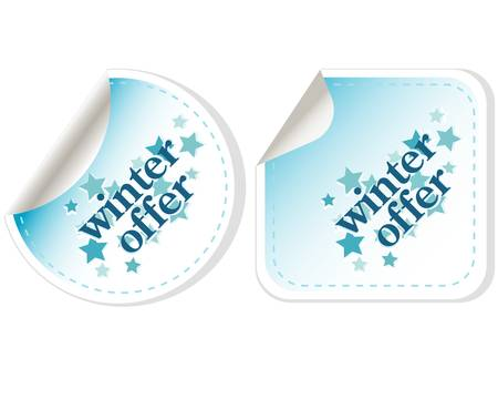 Special winter offer vector stickers Vector