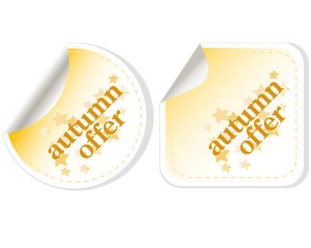 autumn offers vector stickers set Stock Vector - 11536023