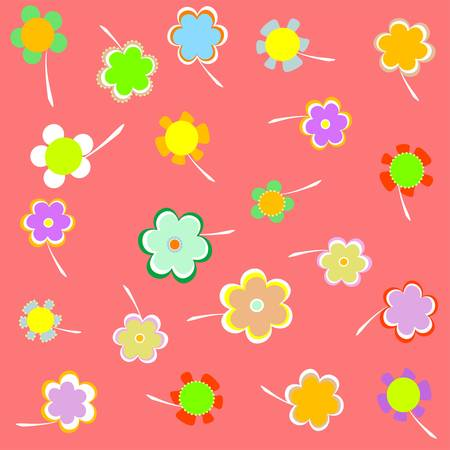Romantic Flower pink Background. vector Vector