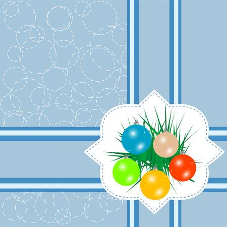 christmas ball on abstract background. vector Vector