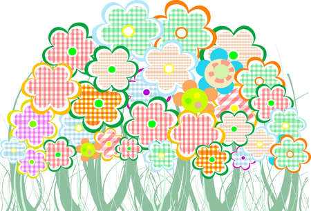 Perfect spring daisies border. vector background photo