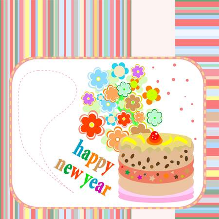 Banners with flowers on Happy new year or Christmas Illustration