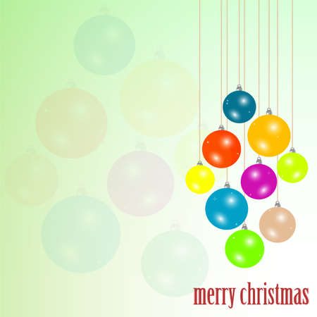 Christmas greeting card. new year background photo