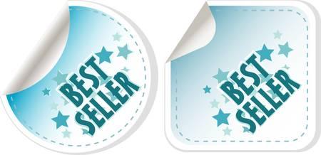 Best seller blue stickers set. vector label Stock Vector - 11596088