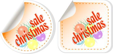 Winter christmas Sale stickers vector set Stock Vector - 11596122