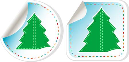 New Year Tree stickers set Stock Vector - 11636677