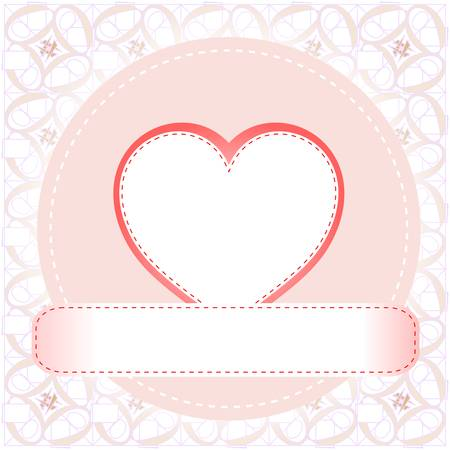 Postcard from the love valentines heart Stock Vector - 11830439