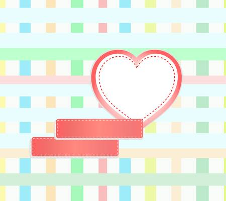 abstract mosaic background with hearts and empty space Stock Vector - 11830438