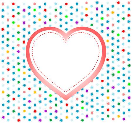 pair of valentine heart on abstract background.  Stock Vector - 11830453