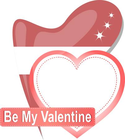 Heart shape with text Be my Valentine Vector