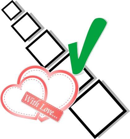 valentine day or wedding - check list Symbol Stock Vector - 11979709