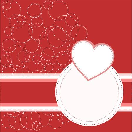 Valentines red greeting invitation love card Vector