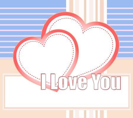 te negro: Te amo y los corazones en un vector de fondo de estilo