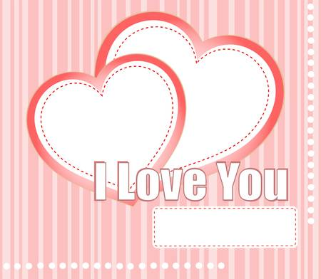 valentines hearts two shapes on pink pattern background Vector