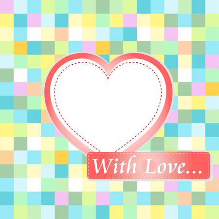 Love card with hearts. love wedding invitation Vector