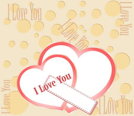 Valentine card with lettering I Love You Stock Vector - 12075216