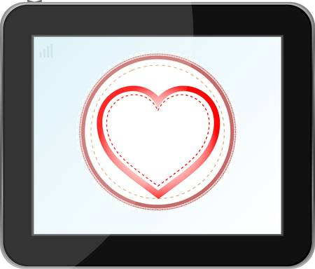 love heart icon for mobile devices tablet pc Vector