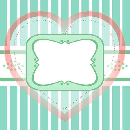 Seamless background greeting with love heart Vector