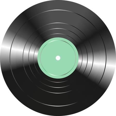 disk jockey: Vinile Vintage isolato su sfondo bianco