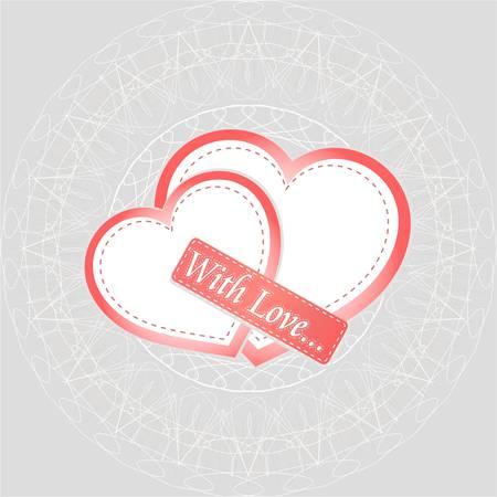 Heart gift present Valentine day  Vector