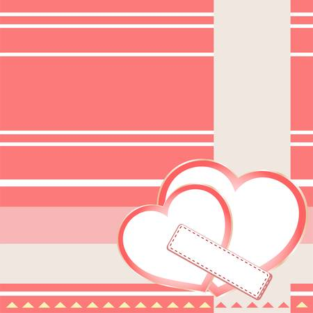 Two hearts St Valentine background. wedding theme Stock Vector - 12239303
