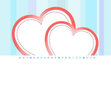 valentine love heart romantic birthday vector background Vector