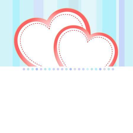 valentine love heart romantic birthday vector background Vector