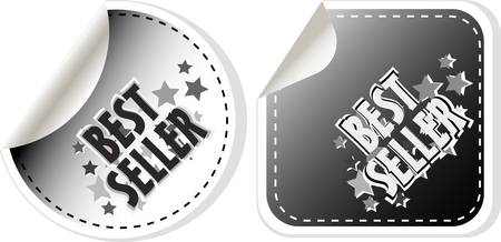 Vector Best Seller stickers set isolated on white Stock Vector - 12485870